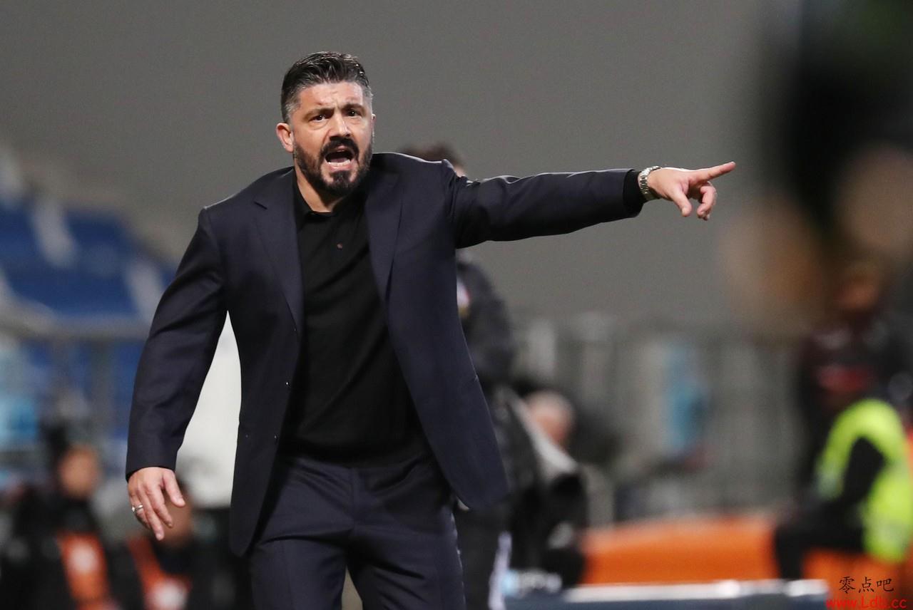 加图索:对方门将来到前场的瞬间让我想起在米兰的首秀